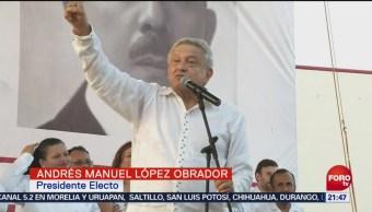 Perdono Quienes Ofendieron Amlo Ciudad Del Carmen, Campeche, El Presidente Electo Andrés Manuel López Obrador