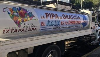 Iztapalapa y Tláhuac se preparan con contenedores y pipas para corte de agua extendido