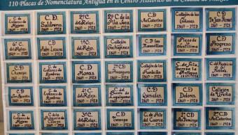 CDMX restaura placas con nombres antiguos de calles