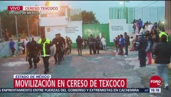 Policías Salen Del Penal De Texcoco Tras Motín
