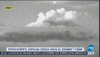 Popocatépetl emite columna de más de mil metros