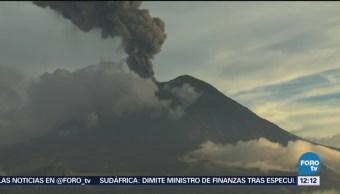 Popocatépetl emite siete explosiones en las últimas 24 horas