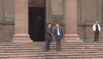 AMLO se reúne con gobernador de nuevo león