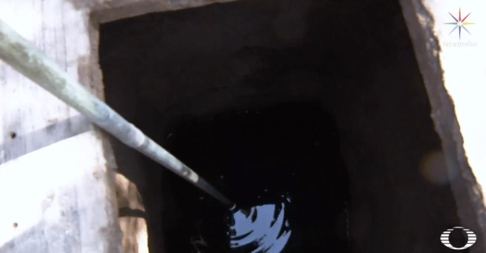Pozo de agua contaminado con combustible en el Edomex por actividades de huachicoleros