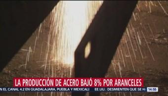 Producción de acero mexicano cae en 8%: Canacero