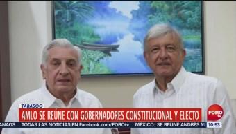 Amlo Reúne Gobernador Funciones Electo Tabasco