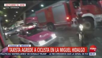 Taxista Agrede Ciclista Miguel Hidalgo