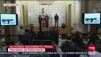 Rechaza Gobierno De México Violencia Frontera Con Guatemala Alfonso Navarrete Prida, secretario de Gobernación