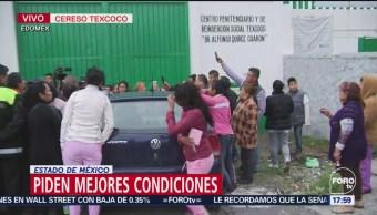 Reclusos demandan mejores condiciones en Penal de Texcoco