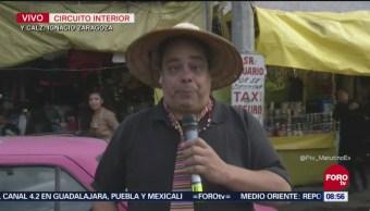 Repor entrevista a vendedores en Ignacio Zaragoza