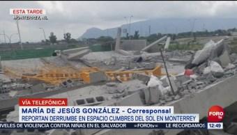 Reportan 10 personas atrapadas por derrumbe en Monterrey