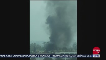 Reportan incendio en la carretera federal México Toluca