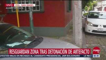 Resguardan San Ángel tras detonación de explosivo