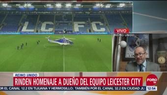 Rinden homenaje a dueño del equipo Leicester City