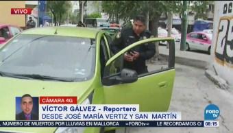 Roban autopartes y rompen ventana de auto en Doctor Vértiz
