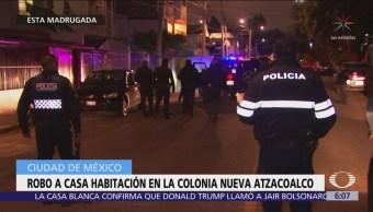 Robo a casa en la colonia Atzacoalco deja dos detenidos
