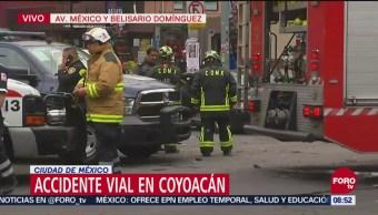 Un Muerto Tres Heridos Accidente Vial Coyoacán Avenida México Belisario Domínguez Coyoacán