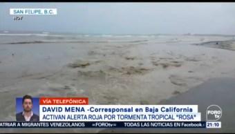Activan Alerta Roja Llegada Rosa Baja California