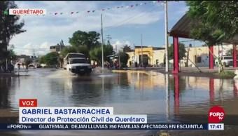 San Juan del Río y el Marqués, en Querétaro, afectados por lluvias
