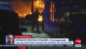 Se Desploma Helicóptero Dueño Del Club De Fútbol Inglés Leicester City Estrelló En Un Estacionamiento Afuera Del Estadio No Hay Reporte De Víctimas