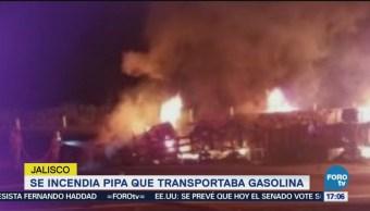 Incendia Pipa Transportaba Gasolina Jalisco