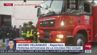 Se reportan dos personas intoxicadas en Azcapotzalco