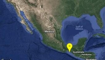 sismo 4 se registra a 51 kilómetros de Tonalá, Chiapas