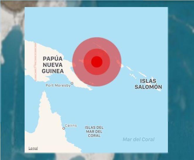 Amenaza de tsunami por sismo de magnitud 7 en Papúa Nueva Guinea