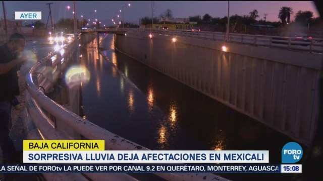 Sorpresiva lluvia deja afectaciones en Mexical, BCS