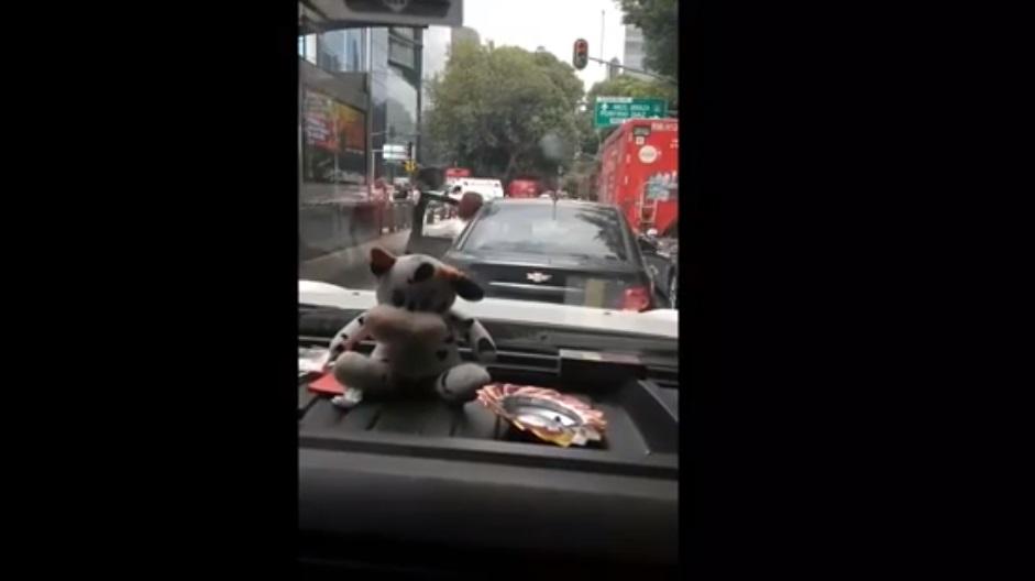 Apodan #LadyMartillo a mujer que ataca camioneta en CDMX