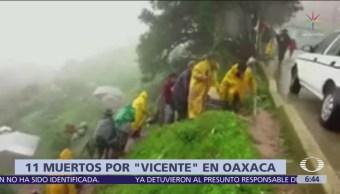 Suman 11 muertos por la tormenta 'Vicente' en Oaxaca