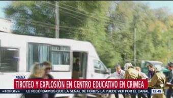 Suman 18 muertos por tiroteo en escuela en Crimea