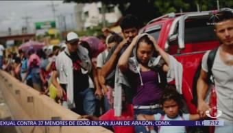 Suman 7 mil migrantes de la caravana en Tapachula, Chiapas