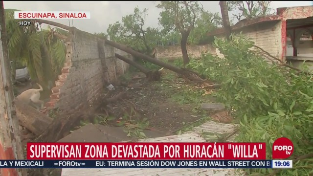 Supervisan Zonas Devastadas Huracán Willa Afectaciones Inundaciones