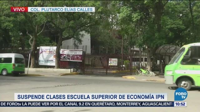 Suspende clases la Escuela Superior de Economía IPN