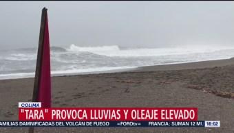 Tara provoca lluvias y oleaje elevado en Colima