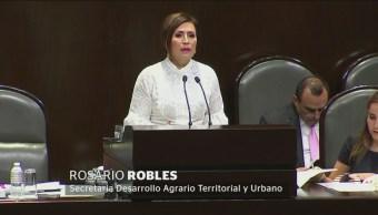 Tensa Comparecencia Rosario Robles Cámaras Diputados