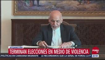 Terminan Elecciones Medio Violencia Afganistán