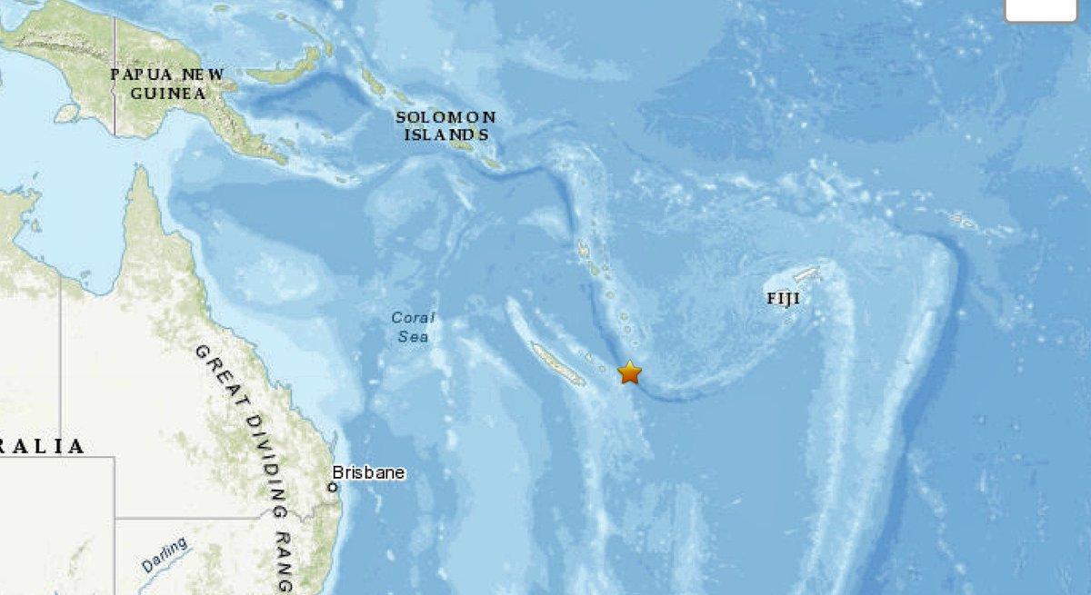 Terremoto de magnitud 6,3 sacude Nueva Caledonia, en el Pacífico Sur