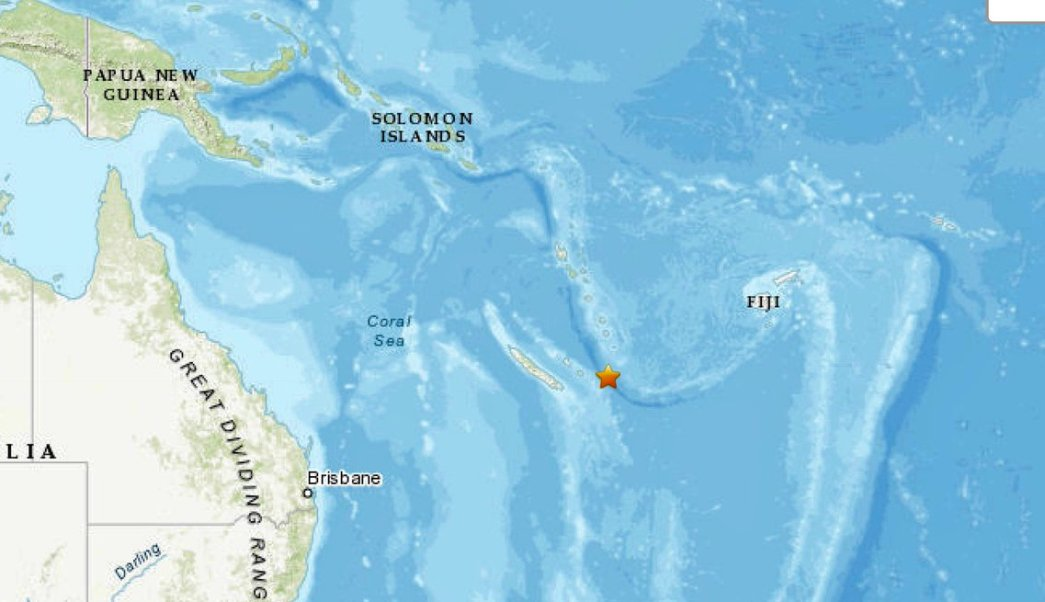 Dos terremotos sacuden Nueva Caledonia, en el Pacífico Sur