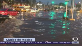 Tormenta causa inundaciones en la alcaldía Gustavo A. Madero
