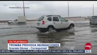 Tormenta provoca inundaciones en Coatzacoalcos