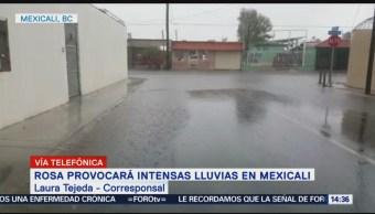 Tormenta 'Rosa' provoca encharcamientos en Mexicali