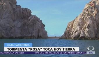 Tormenta Rosa tocaría tierra en San Quintín, Baja California