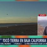 Tormenta Sergio toca tierra en Baja California Sur