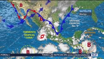 Tormenta tropical 'Tara' afecta costas de Colima
