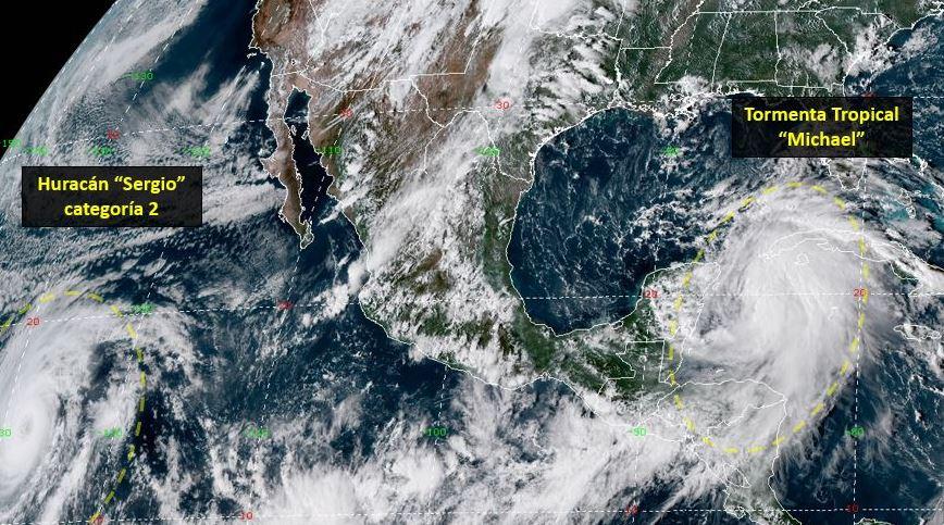 Tormenta tropical 'Michael' afectará Quintana Roo y Yucatán
