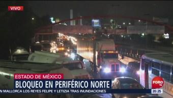 Transportistas Bloquean Periférico Norte Parque Naucalli