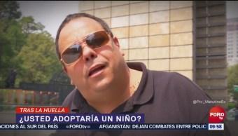 Tras la huella de la noticia Adoptaría a un niño