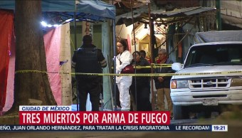 Tres Muertos Arma De Fuego Ciudad De México